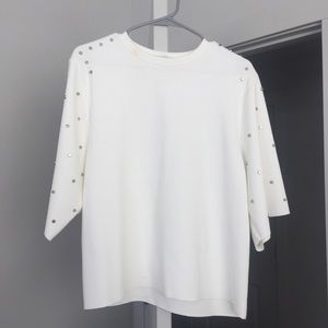 Zara Embellished Stud Blouse